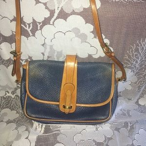 Vintage Dooney and Bourke blue leather purse